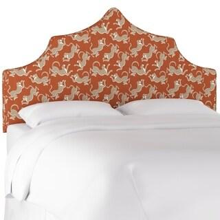Skyline Furniture Upholstered Headboard in Leopard Run Burnt Orange