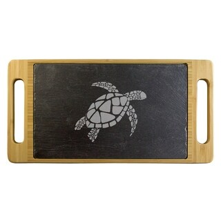Sea Turtle Slate & Bamboo Serving Tray
