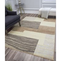 Gallagher Modern Neutral Geometric Area Rug - 8' x 10'