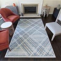 Gauge Modern Plaid Area Rug - 8' x 10'