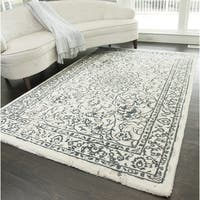 Shop Cappella Floral Diamond Ivory Blue Area Rug 7 10 X