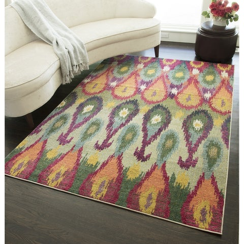 "Valerie Contemporary Ikat Area Rug - 7'10"" x 9'10"""