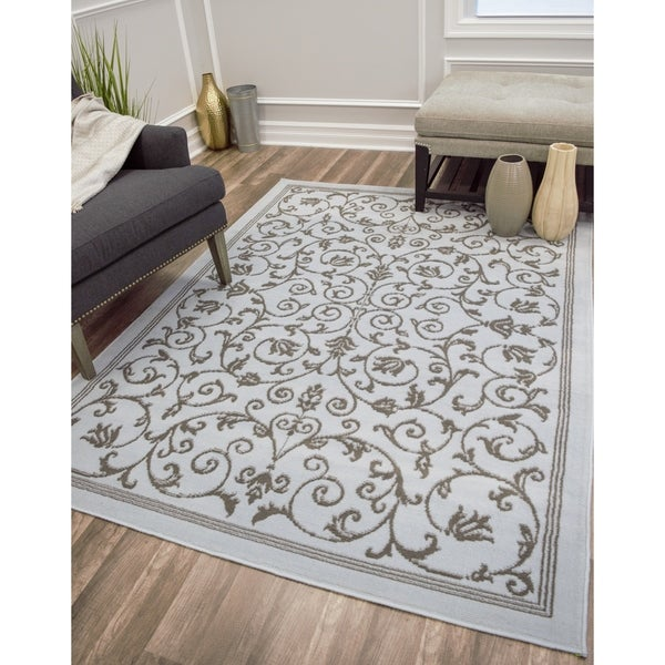 Xena Modern Scroll Area Rug - 8' x 10'