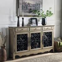 Furniture of America Tarita Antique Light Oak-finish Wood/Metal 3-drawer Accent Cabinet
