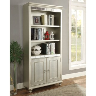 Furniture of America Jacob Transitional Glam Silver Home Office Bookcase