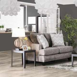 Furniture of America Theresa Contemporary Grey Chenille Love Seat