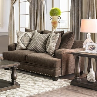 Furniture of America Rayna Traditional Chenille Love Seat