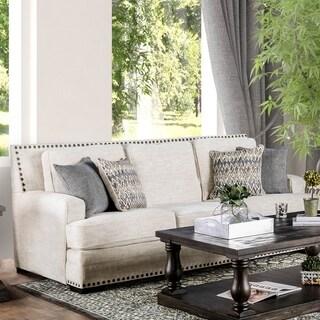 Furniture of America Tavven Transitional Chenille Sofa