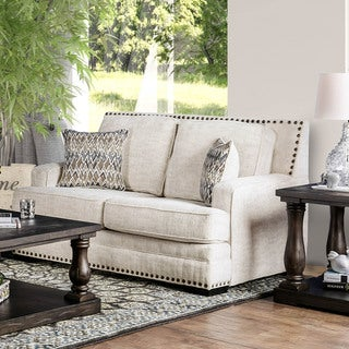 Furniture of America Tald Transitional Chenille Upholstered Loveseat