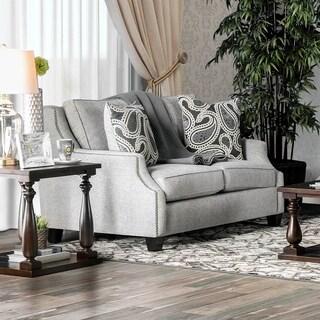Furniture of America Katarina Contemporary Light Grey Love Seat