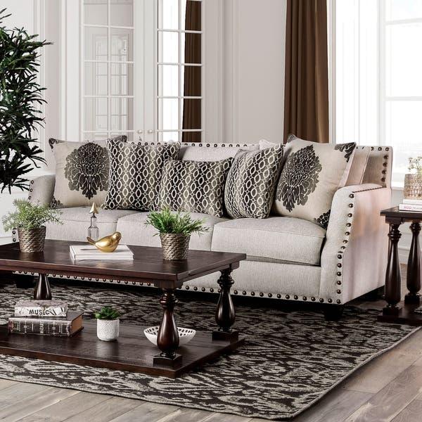 Shop Furniture of America Zack Contemporary Chenille ...