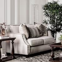 Furniture of America Hearn Contemporary Chenille Love Seat