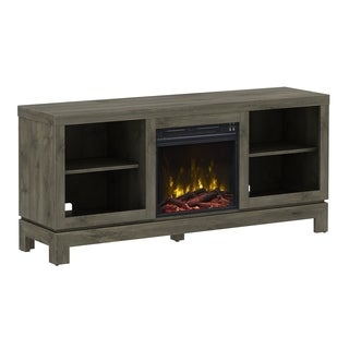 "Berkeley TV Stand for TVs up to 65"" with Fireplace, Spanish Gray"