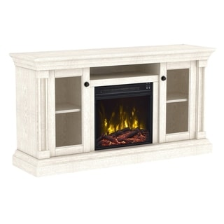"""Foxmoor TV Stand for TVs up to 60"""" with Electric Fireplace,  White Oak"""