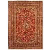 Handmade Herat Oriental Persian Hand-Knotted Kashan Wool Rug (Iran) - 8'5 x 12'