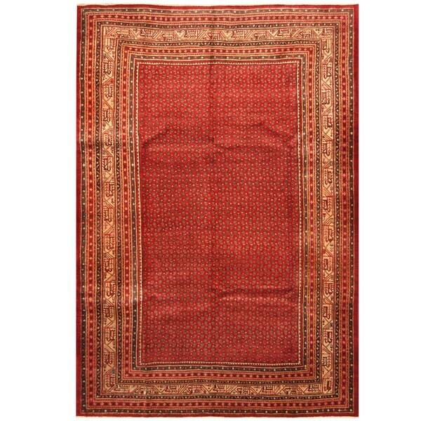 Handmade Herat Oriental Persian Hand-Knotted Mir Wool Rug - 7'3 x 10'9 (Iran)