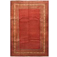 Handmade Herat Oriental Persian Hand-Knotted Mir Wool Rug (7'3 x 10'9) - 7'3 x 10'9