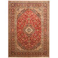 Handmade Herat Oriental Persian Hand-Knotted Kashan Wool Rug (Iran) - 8'6 x 11'7
