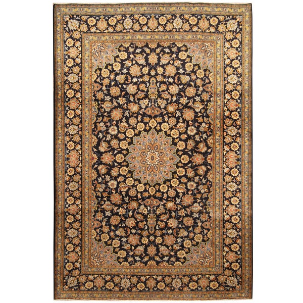Handmade Herat Oriental Persian Hand-Knotted Kashan Wool Rug (8'3 x 12'2)