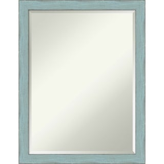 Bathroom Mirror, Sky Blue Rustic