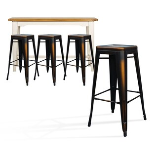 Sherica Copper Metal Barstool (Set of 4)