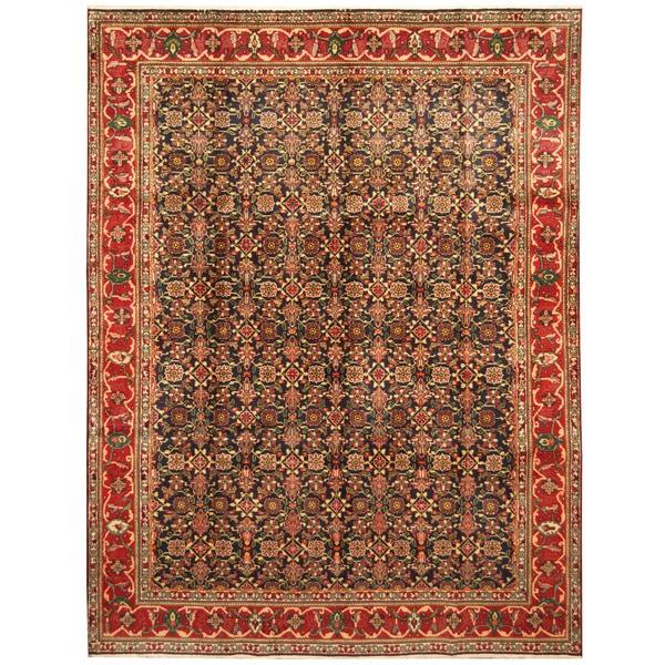 Handmade Herat Oriental Persian Hand-Knotted Tabriz Wool Rug (8' x 10'10) - 8' x 10'10