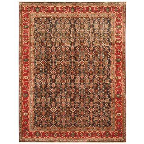 Handmade Herat Oriental Persian Hand-Knotted Tabriz Wool Rug - 8' x 10'10 (Iran)