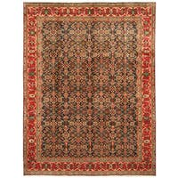 Handmade Herat Oriental Persian Hand-Knotted Tabriz Wool Rug (8' x 10'10)