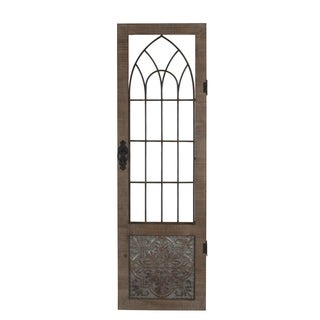 Privilege 32021 Metal and Wood Wall Panel, 18.5x1.5x60