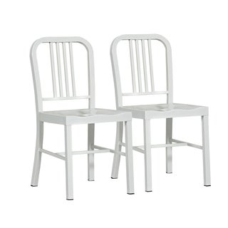 Althea White Metal Dining Chair (Set of 2)