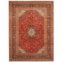 Handmade Herat Oriental Persian Hand-Knotted Kashan Wool Rug (Iran) - 8' x 11'