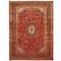 Handmade Herat Oriental Persian Hand-Knotted Kashan Wool Rug - 8'2 x 11'6