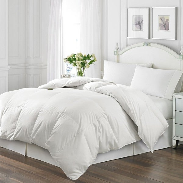 shop kathy ireland 250 thread count white goose down and feather comforter on sale free. Black Bedroom Furniture Sets. Home Design Ideas