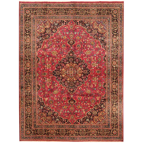 Handmade Herat Oriental Persian Hand-Knotted Kashan Wool Rug (Iran) - 8' x 10'7