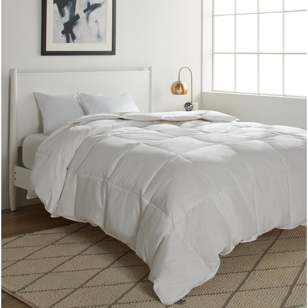 shop elle 250 thread count white goose down and feather comforter on sale free shipping. Black Bedroom Furniture Sets. Home Design Ideas