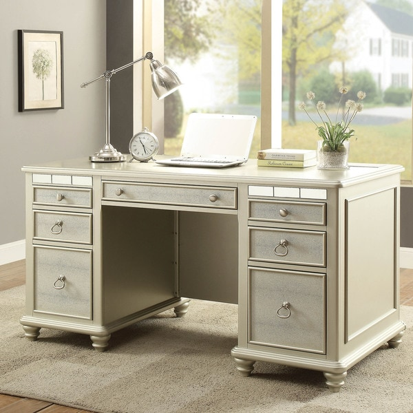 Shop Furniture Of America Jacob Transitional Glam Silver