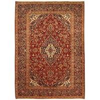 Handmade Herat Oriental Persian Hand-Knotted Kashan Wool Rug - 8'2 x 11'4 (Iran)