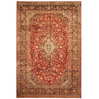 Handmade Herat Oriental Persian Hand-Knotted Kashan Wool Rug (7'3 x 10'9)