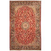 Handmade Herat Oriental Persian Hand-Knotted Isfahan Wool Rug (7'7 x 12') - 7'7 x 12'