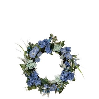 Hydrangea and Petunia Wreath