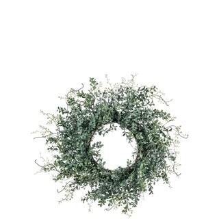 Blue Boxwood Wreath