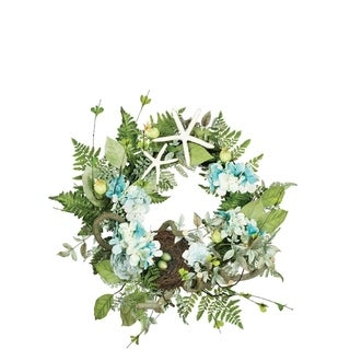 Hydrangea and Fern Wreath