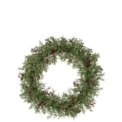 Sullivans Mini Leaf with Berries Wreath