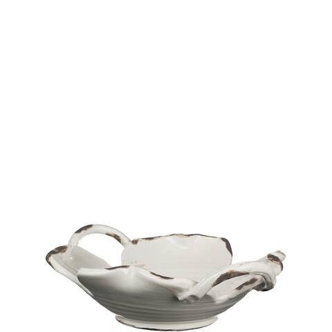 White Handled Bowl