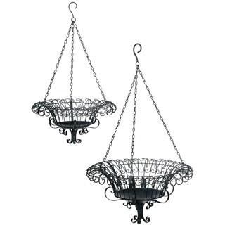 Metal Hanging Baskets - Set of 2
