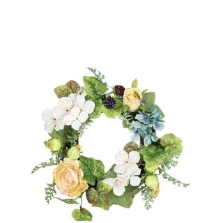 Rose and Hydrangea Wreath