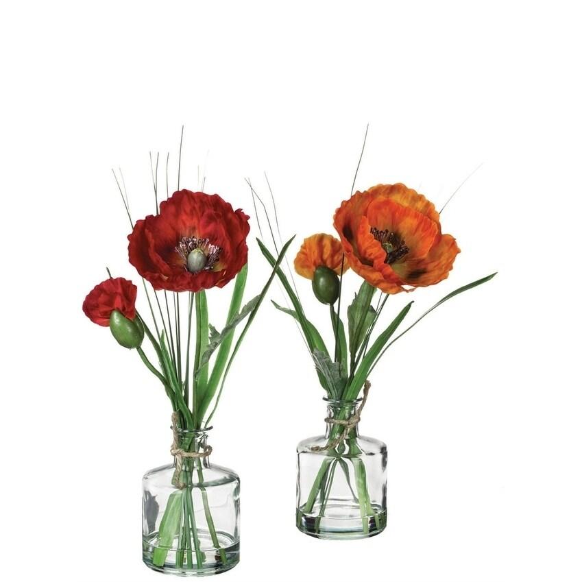 Poppy Potted Plants - Set of 2