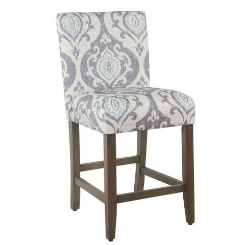 "Homepop 24"" Classic Parsons Counter Stool - Suri Blue Slate"