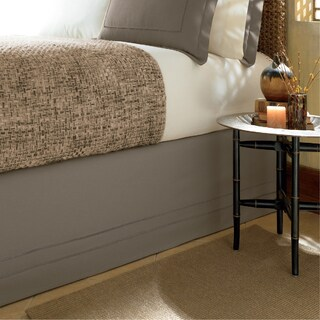 Linen Hemstitch 15-inch Drop Bed Skirt