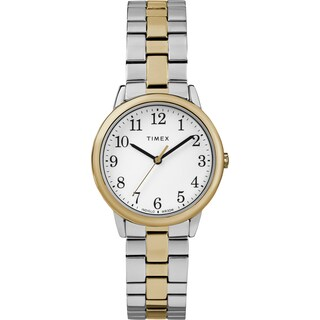 Timex Women's TW2R58800 Easy Reader Small Two-Tone Stainless Steel Expansion Band Watch